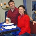 Frau Freiermuth-Gockell und Herr Rieder bei der Adventslesung